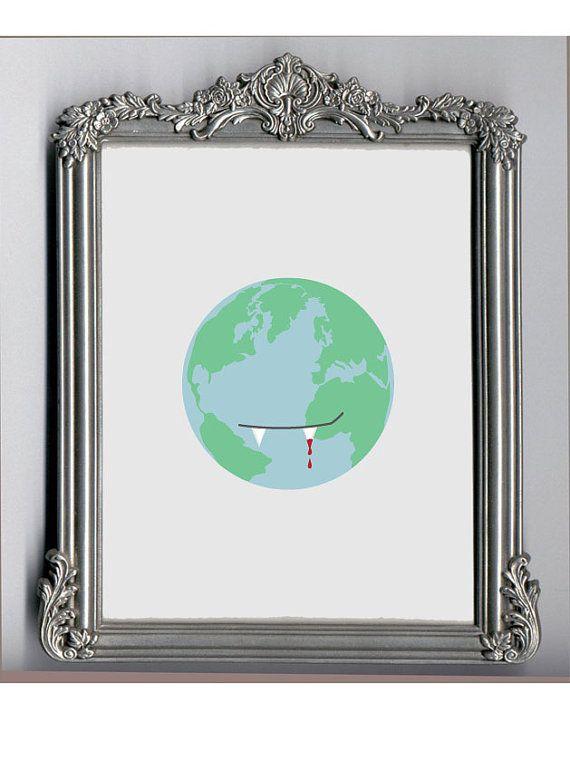 The World is a Vampire  Digital Print  Original by MargosLyricArt, $18.00