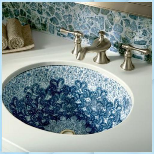 Pin Von Inge Meuwese Auf Badezimmer Diy In 2020 Waschbecken Badezimmer Blau Und Weiss