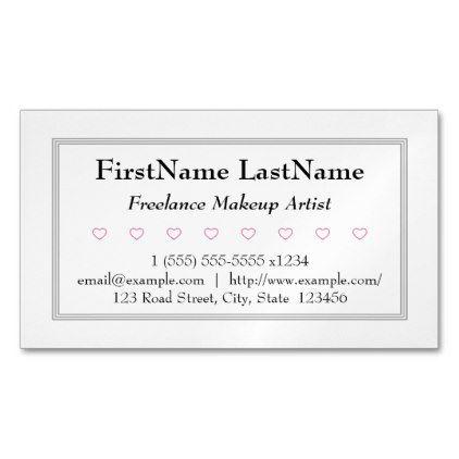 Plain freelance makeup artist business card consultant business plain freelance makeup artist business card consultant business job profession diy customize colourmoves