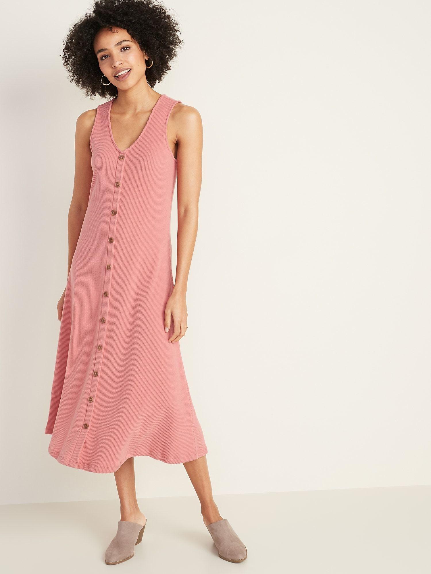 Park Art My WordPress Blog_Button Front Midi Dress Sleeveless