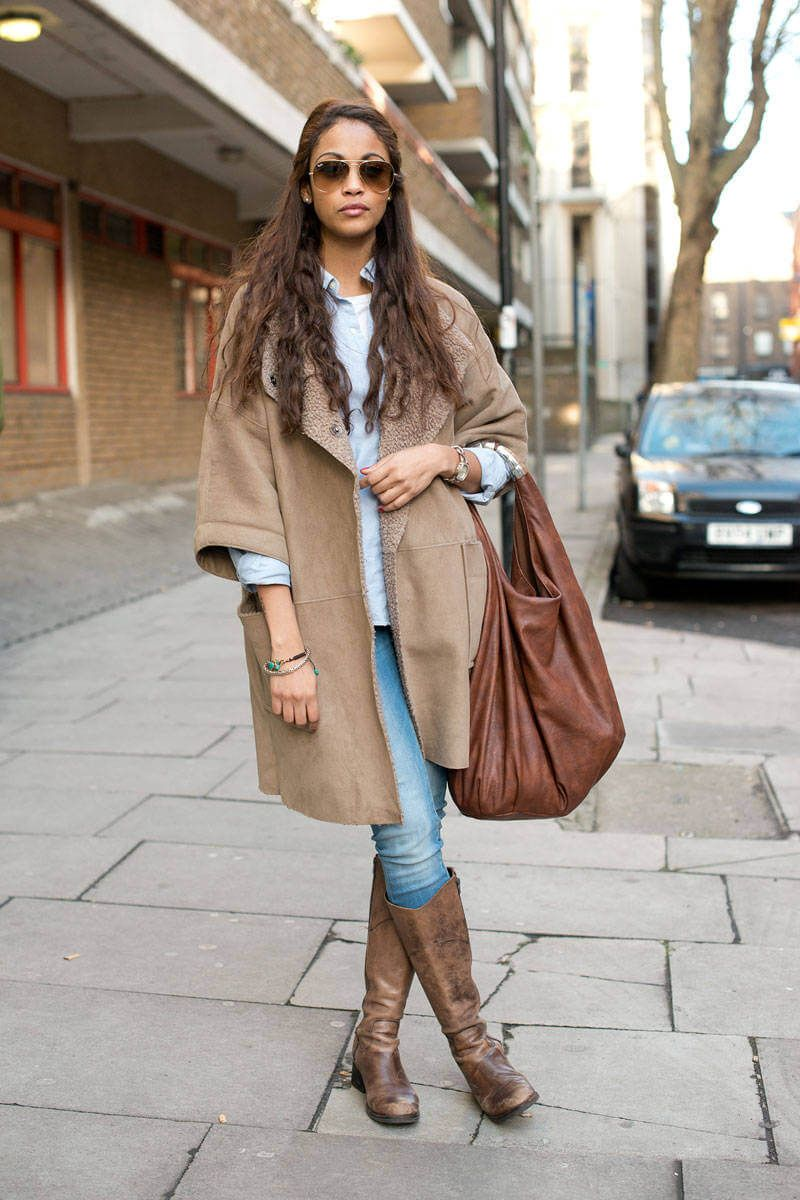 20 Different Shoes To Wear With Winter Outfits | Brown boots, Blue ...