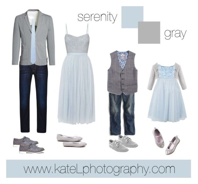Pantone Color of the Year: Serenity // family outfit inspiration: what to wear for a family photo session in the spring or summer. Created by Kate Lemmon, www.kateLphotography.com