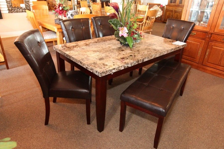 dining room tables las vegas | Dining Table w/ 4 Chairs & Bench - Colleen's Classic ...