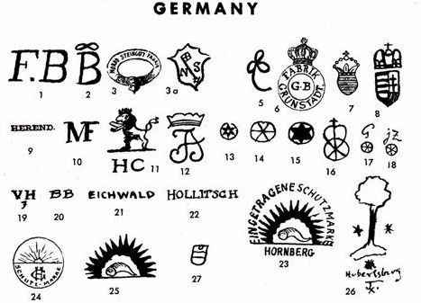 Pottery Porcelain Marks Germany Diagrams Stuff
