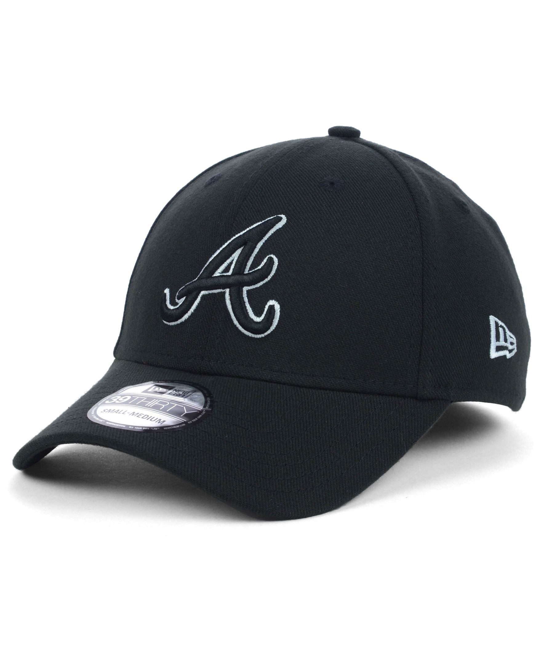 New Era Atlanta Braves Black And White Classic 39thirty Cap Atlanta Braves New Era Black