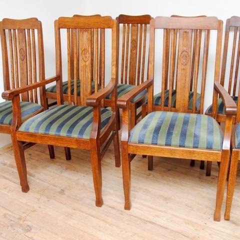 6 Stühle und 2 Armlehnenstühle Möbel Pinterest - kleiner küchentisch mit 2 stühlen