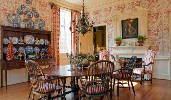 20 Country French Inspired Dining Room Ideas: Historic English Country Style Dining Rooms
