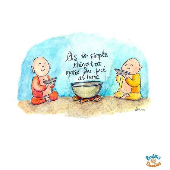 Buddha Doodles - It's simple things that make you feel at home.