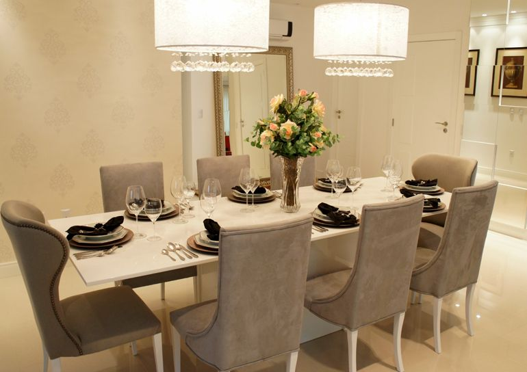 Sala De Estar E Jantar Moderna ~   Pinterest  Salas de jantar modernas, Sala de jantar e Jantares