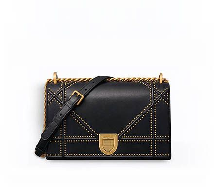 5cfef0efeb33 Diorama baby pouch in black studded lambskin - Dior