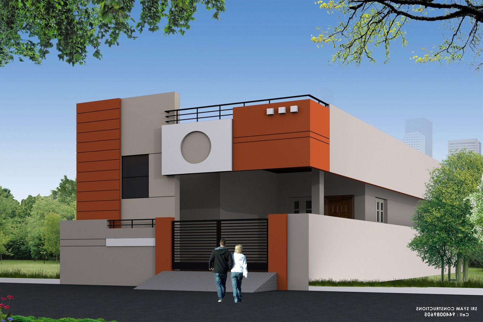 Single Floor House Elevation Design