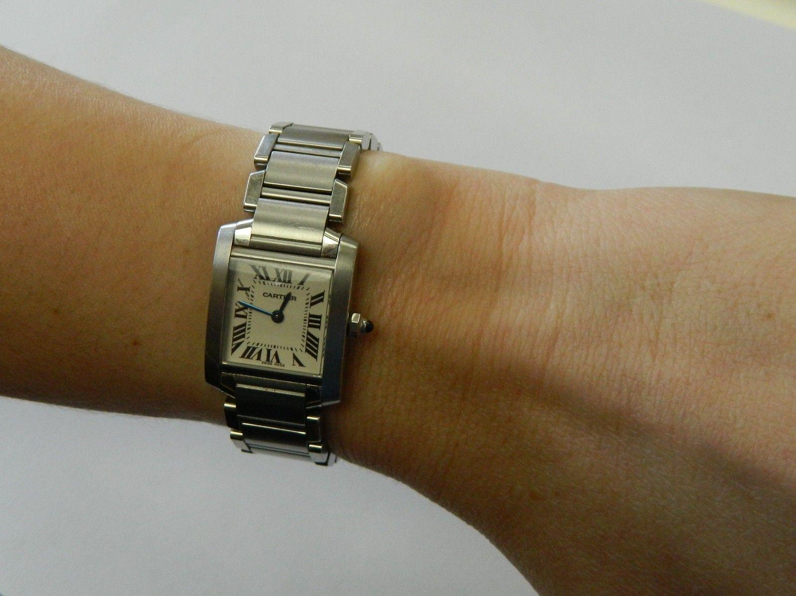 6e8d158418e Pre Owned Cartier Tank Francaise Steel Small Quartz Ladies Watch W51008Q3  843836089371