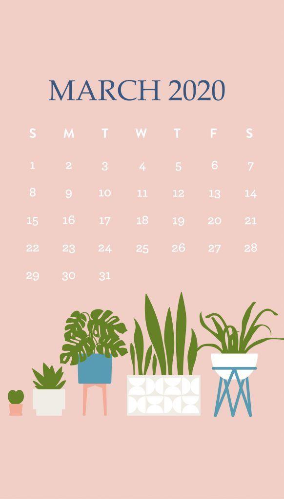iPhone March 2020 Background Wallpaper Calendar