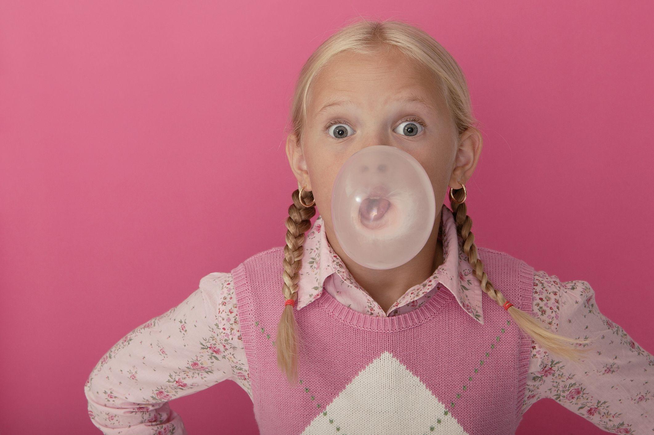 Women Blowing Bubble Gum  Bing Images