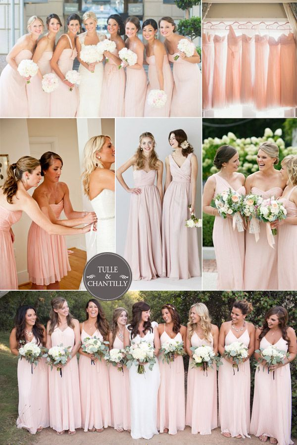 blush bridesmaid dresses for spring summer wedding ideas 2015