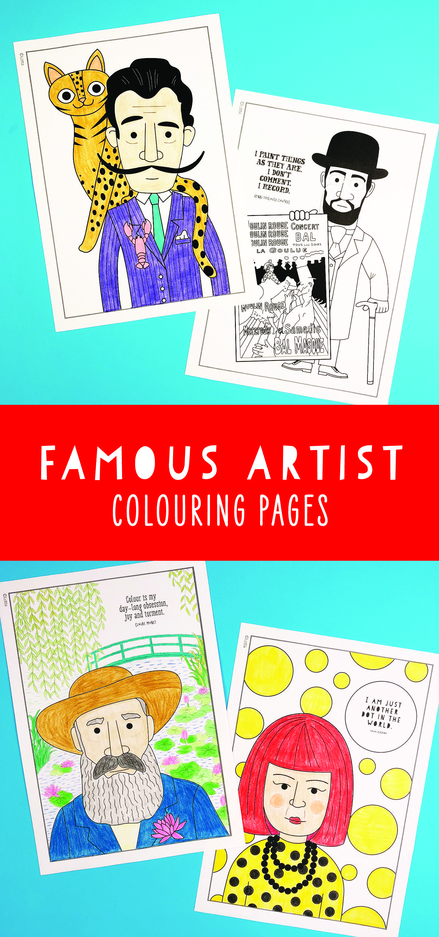 Colouring Pages For Kids Coloring Pages Of Famous Artists