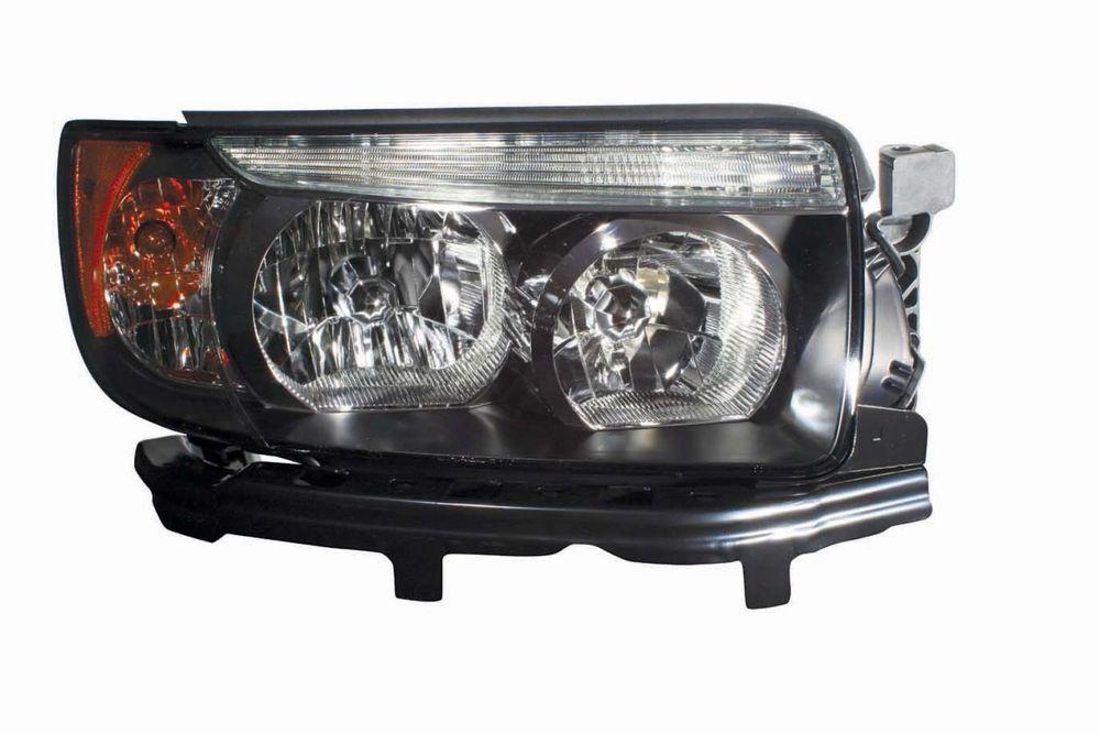Subaru Forester 2006 2008 Black Sport Headlights Head Lights Front Lamps Pair Ebay