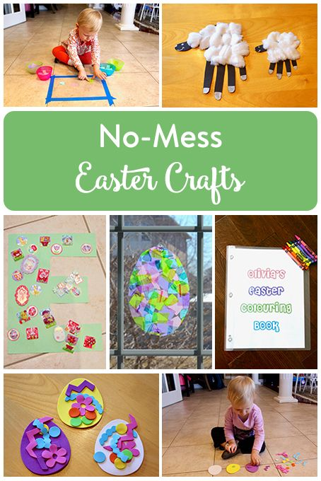 No-Mess Easter Crafts for Kids   Easter crafts for kids ...