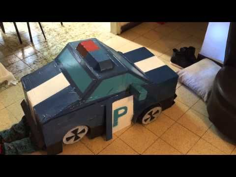 Cardboard Police Car Robot Youtube Police Cars Car Cardboard