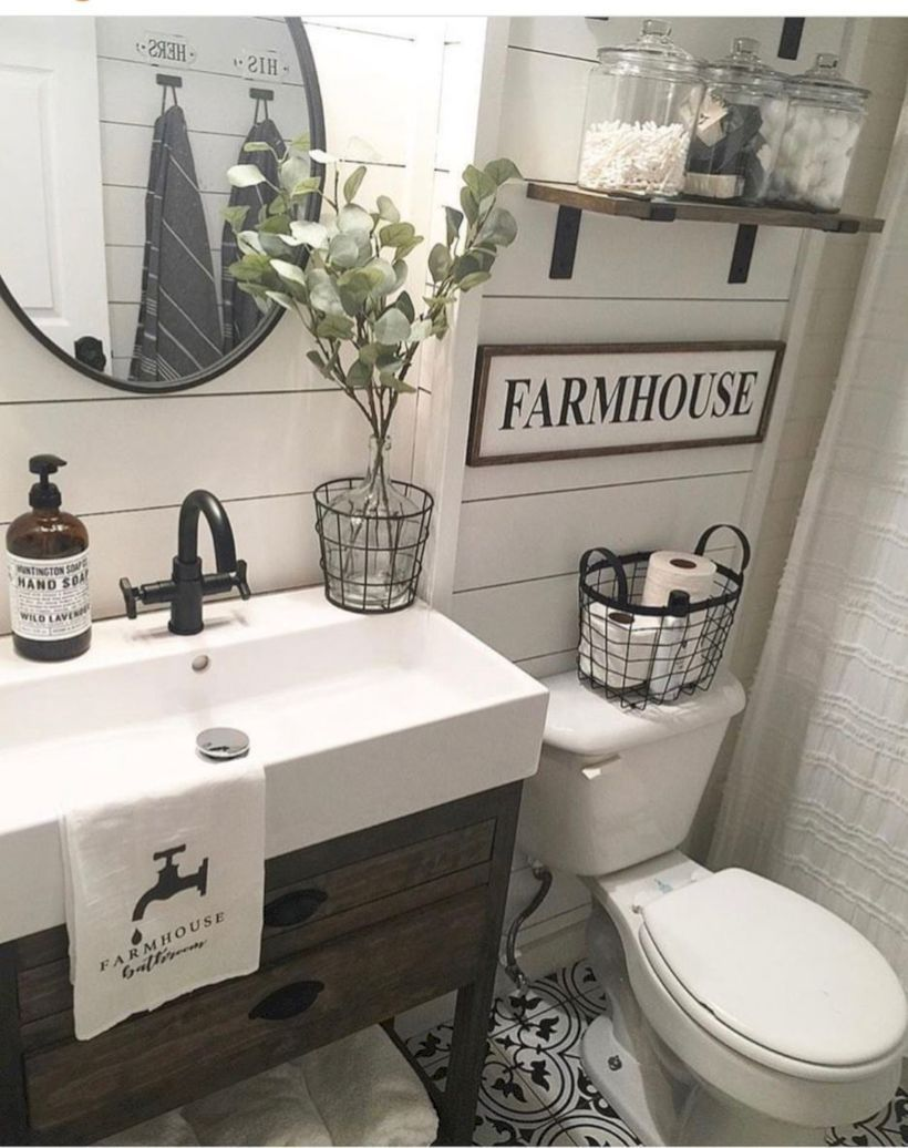 40 Modern Rustic Farmhouse Style Bathroom Ideas in 2020