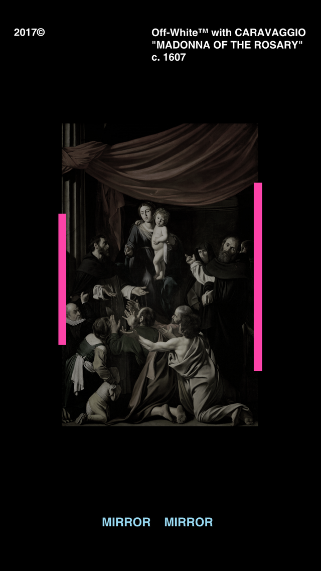 Reddit - streetwear - Off-White Caravaggio Wallpaper ...