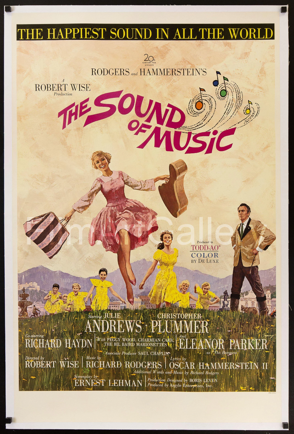 The Sound Of Music Vintage Movie Poster 1 Sheet 27x41 Original Film Poster 6906 Sound Of Music Movie Sound Of Music Quotes Sound Of Music