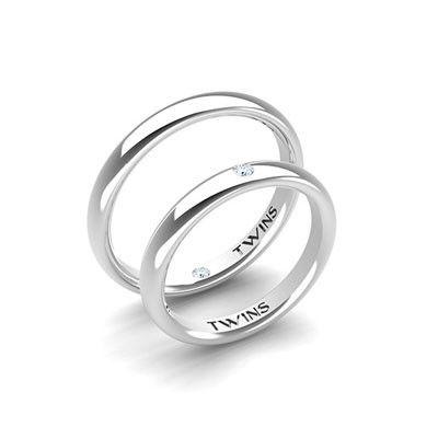 #aliança boda or blanc #alianza boda oro blanco Ref: 1002