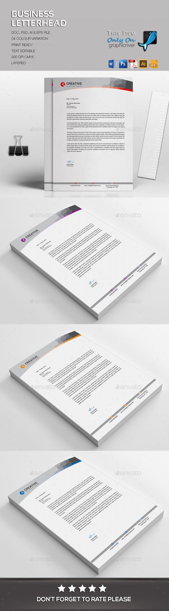Business letterhead letterhead template ai illustrator and template business letterhead template psd vector eps ai illustrator ms word spiritdancerdesigns Choice Image