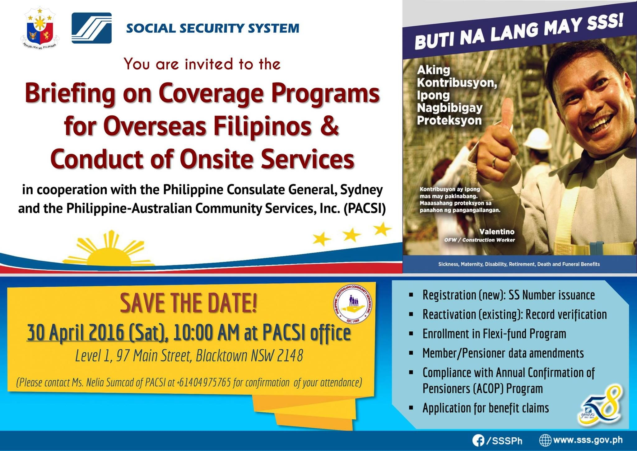 Briefing On Coverage Programs For Overseas Filipinos And Conduct