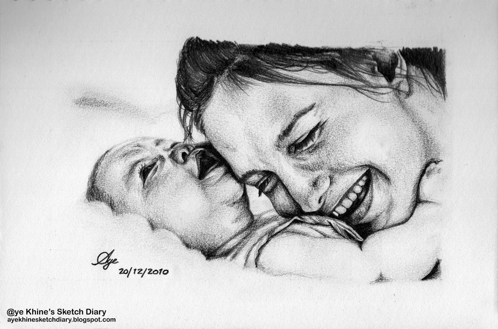 Aye khines sketch diary mothers love