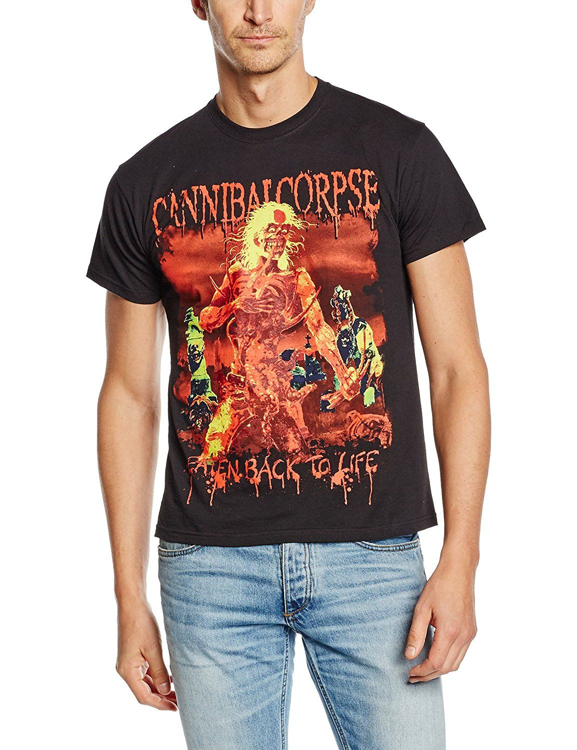 128464d9d Plastichead Herren T-Shirt Cannibal Corpse Eaten Back To Life 2015:  Amazon.de: Bekleidung