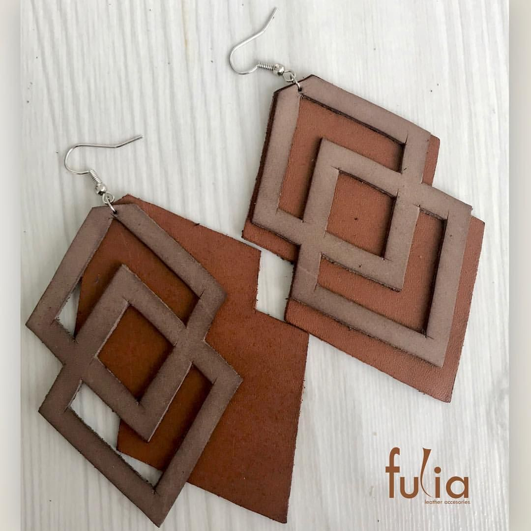"""Photo of Ia Fulia Leather Accesories """"on Instagram:"""" Leather earrings Product Code: 1104 Phone: 0212 699 57 62 ✉️ fuliatasarim@hotmail.com #fuliatasarim #leather #accesories #deri # suede # bijouterie… """""""