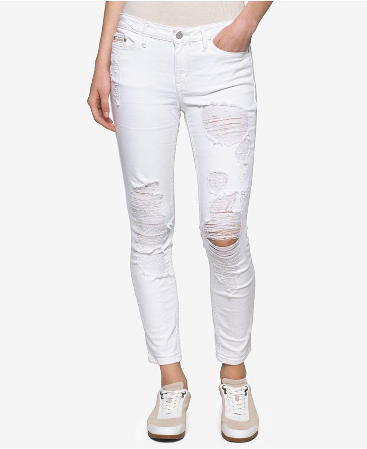 be56515420e Calvin Klein Jeans Ankle Skinny Jeans