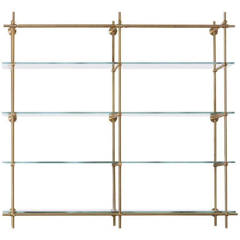Amuneal S Collector S Hanging 2 Bay Unit Glass Shelves Shelves Shelving