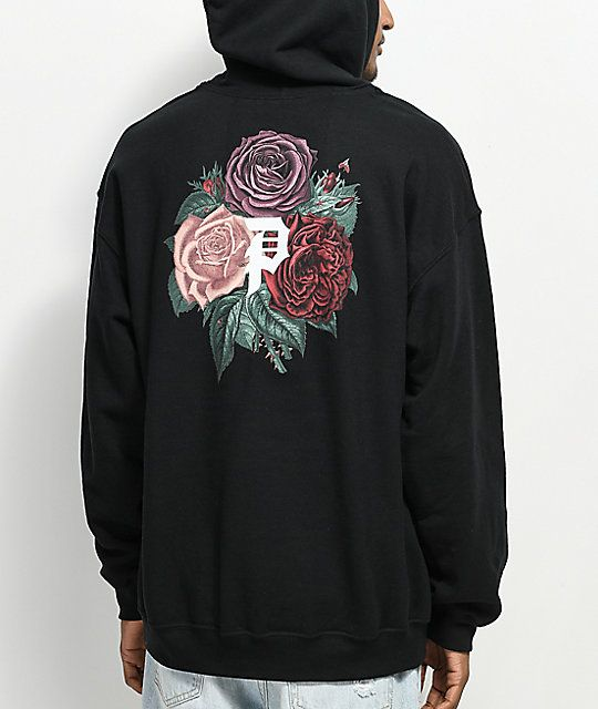 61327b91d9fb10 Primitive Bloom Black Hoodie in 2019