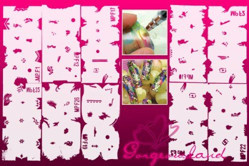 Great Deals 20 Nail Painting Template Nail Stencil Sheets Design Nail Art Airbrush Paint Template Tool,