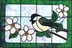 Chickadee Stained Glass