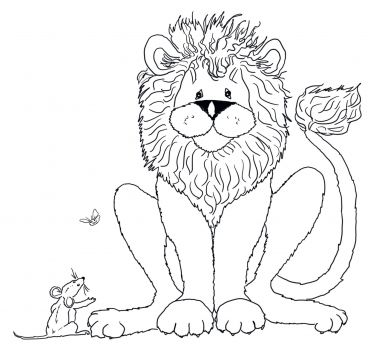 The Mouse Speaks To The Lion Coloring Page Super Coloring Lion