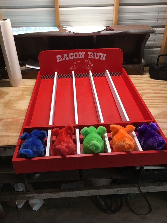 Bacon Run Pig Racing Carnival Game by NorTexEvents on Etsy