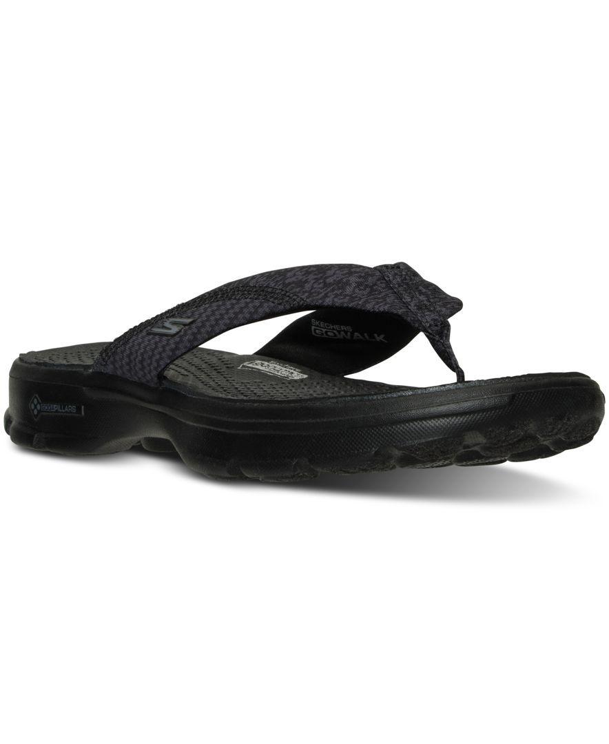 Skechers Women S Gowalk 3 Pizazz Flip Flop Walking Sandals From