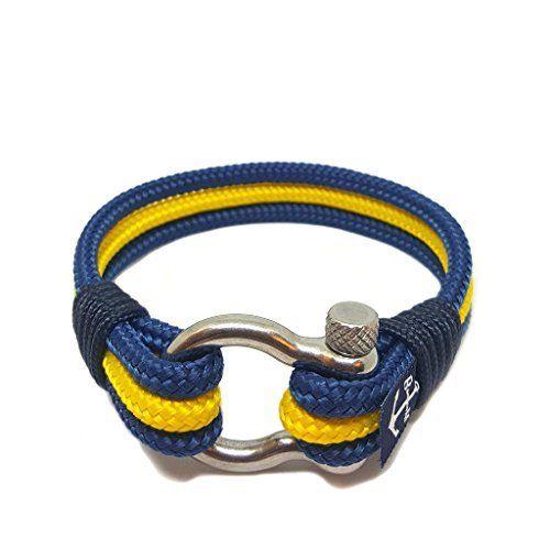 d6a8b2eec504 Pulsera Náutica Azul y Amarillo de Bran Marion