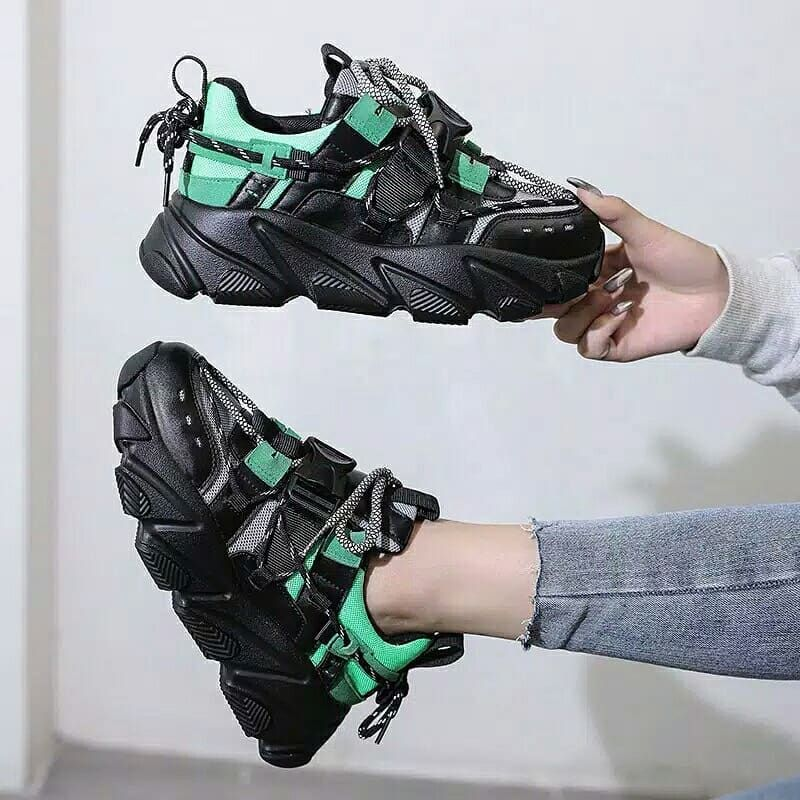 Sepatu Sneakers Sport Casual Hak Tebal Gaya Korea Ins Ulzzang