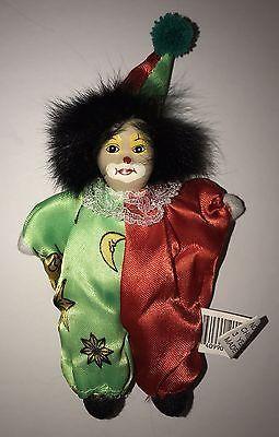 Vintage Porcelain Clown Bean Bag Doll Set   clowns   Bean bag, Dolls