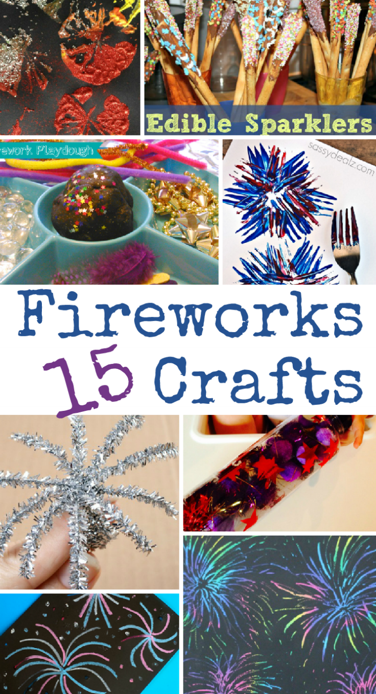 15 Fireworks Crafts for Bonfire Night, New Year's Eve or