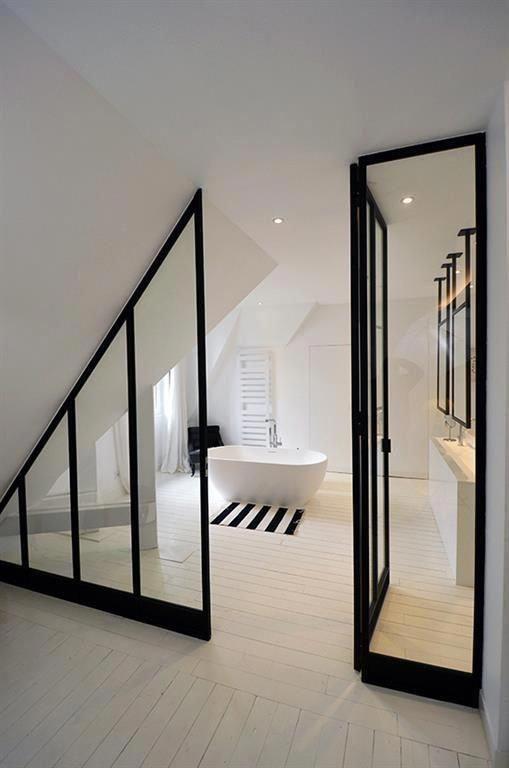 Attic Renovation Apartment Therapy Atticrenovationbeforeandafter Openatticbathroom In 2020 Big Bathrooms Attic Bedroom Small Attic Design
