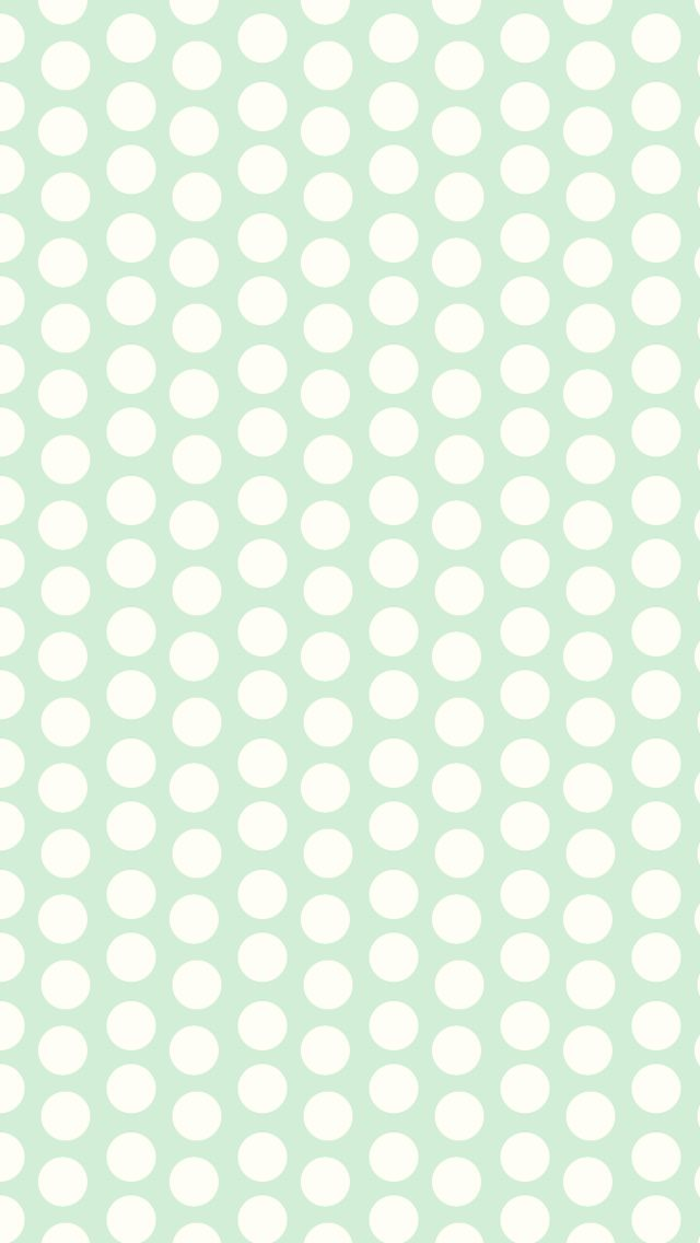 Mint Pastel Green Cream Spots Dots Iphone Wallpaper Phone Background Lock Screen