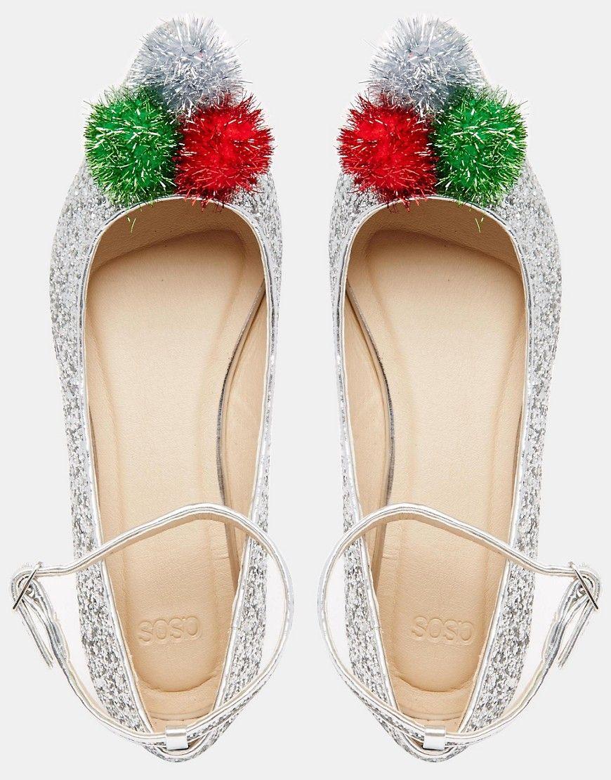 Image 4 of ASOS LAPLAND Christmas Ballet Flats