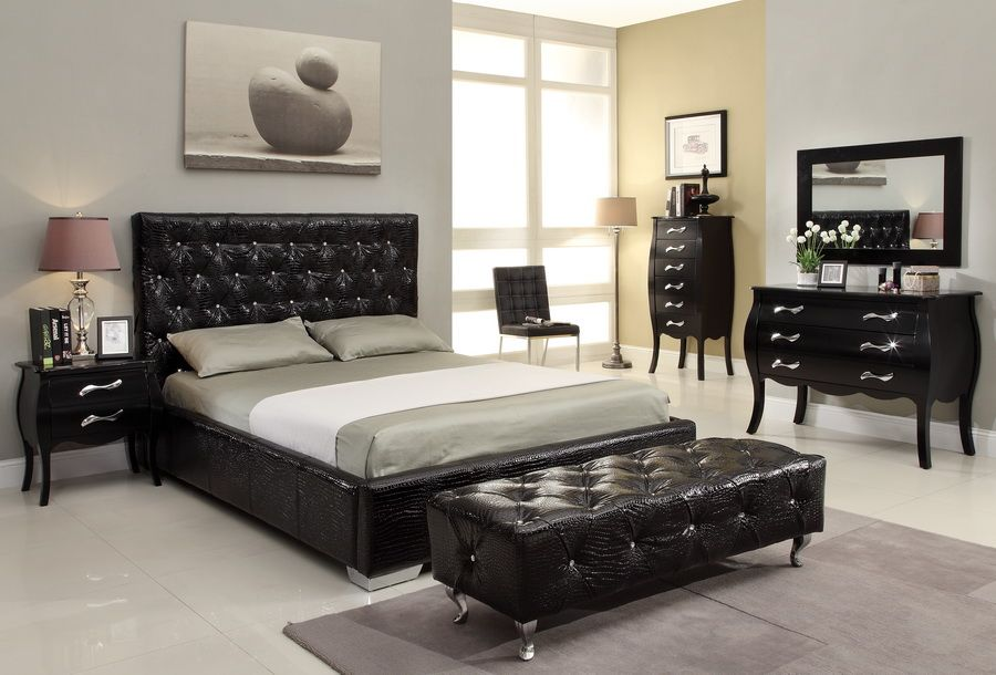 Remarkable Exquisite Black Queen Bedroom Set Fabulous Luxury Queen - Cheap Black Furniture