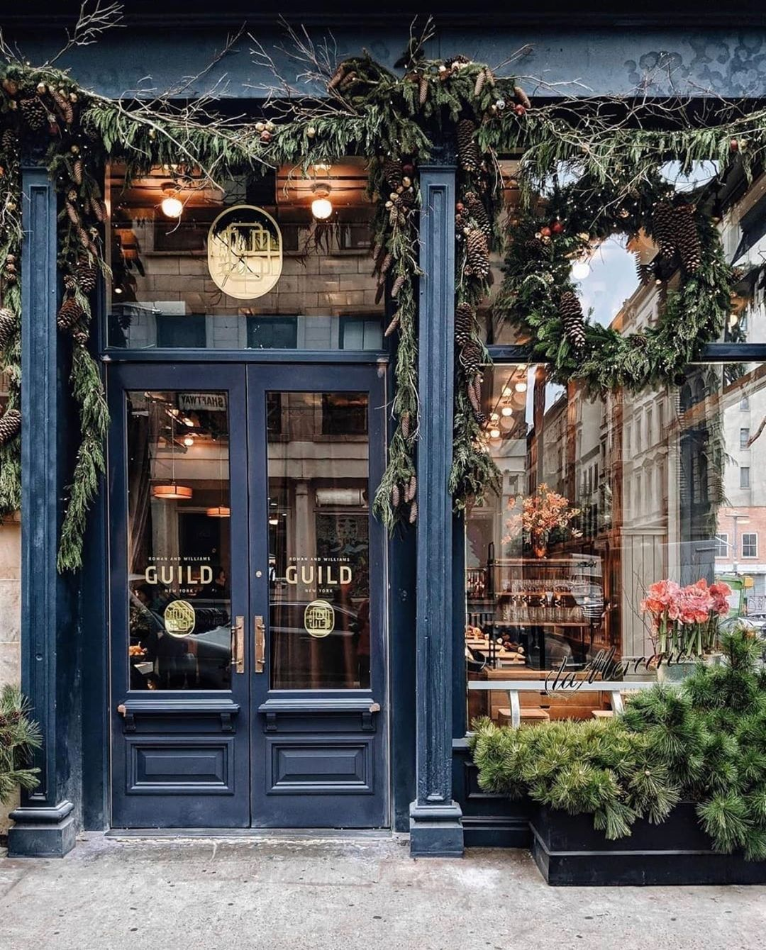 The Francophiles On Instagram Nyc Within The Dreamy Design World Of Rwguild In Soho Lies A French Cafe Lead By Renowned In 2020 Cafe Window Shop Facade Cafe Decor