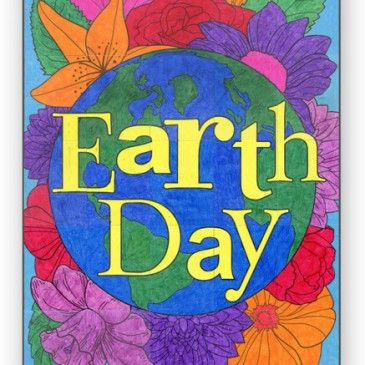 NEW Earth Day Floral Mural Earth Day Pinterest Teacher and